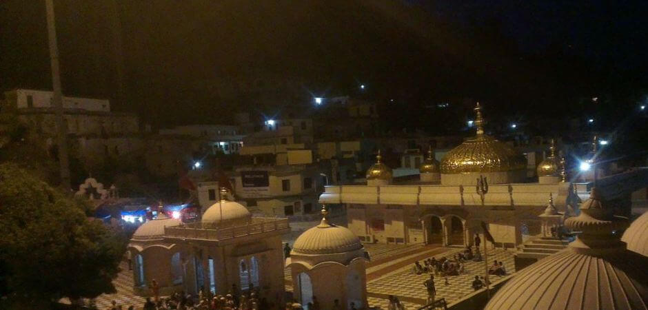 jwala devi temple overview at night